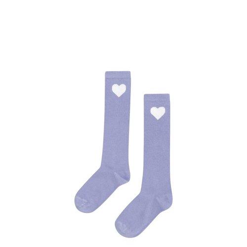 MINGO Knee socks | lilac heart