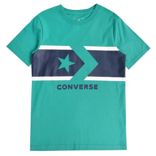 CONVERSE CHEST STRIPE STAR CHEVRON TEE | F1H