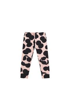 MINGO Legging Double Dot   peach pink/black