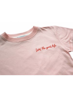 AMMEHOELA Tee Livin' embroidery