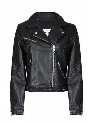 NA-KD 1100-000907 leather jacket | black