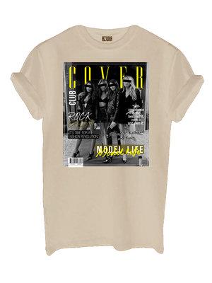 T-SHIRT COVER CLUB| beige