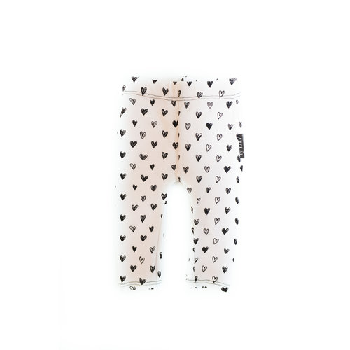 by LILY LE09 Legging hearts | white