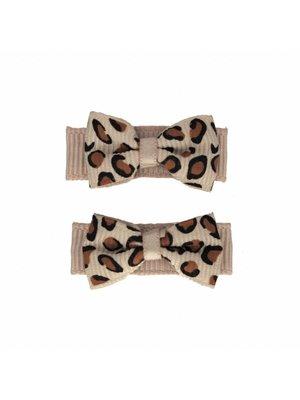 Your Little Miss Baby haarspeldjes leopard tan 2-pack