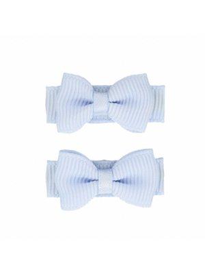 Your Little Miss Baby haarspeldjes met strik 2-pack | bluebell