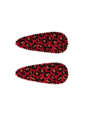 Your Little Miss Baby haarspeldjes met leopard print red