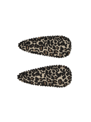 Your Little Miss Baby haarspeldjes met leopard print tan