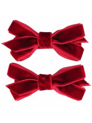 Your Little Miss Haarspeldjes met velvet strik | scarlet