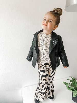 by LILY FLARED LEOPARD BIG SPOTS