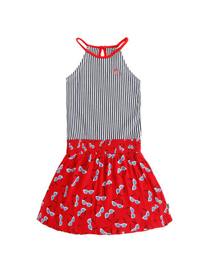 Little Miss Juliette 45-1412 DRESS HALTER / red