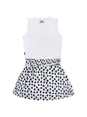 Little Miss Juliette 45-1411 DRESS DOT / wht