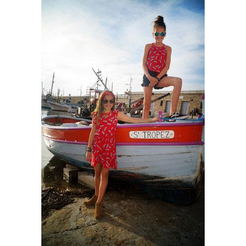 Little Miss Juliette 45-1410 DRESS RUFFLE / red