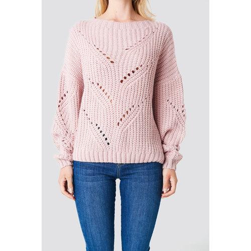 NA-KD 1100-000849 VINGA HOLE KNIT | pink