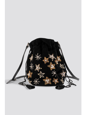 NA-KD 1015-001169 STAR EMBELLISHED POUCH BAG