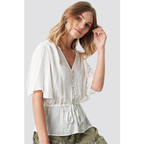 NA-KD 1100-001280 TIE WAIST BUTTON BLOUSE