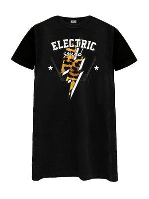 T-SHIRT DRESS ELECTRIC | black