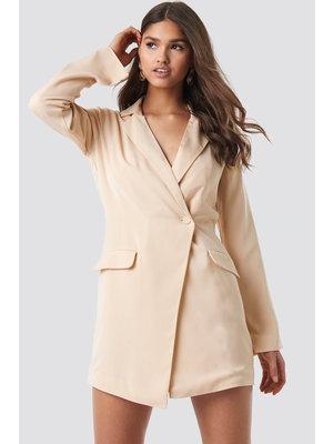 NA-KD 1018-001130 Asymmetric Blazer Dress // BEIGE