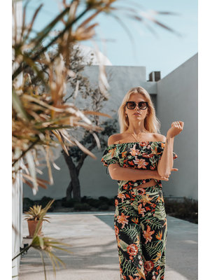 Colourful Rebel LINDY TROPICAL OFF SHOULDER TOP 6174