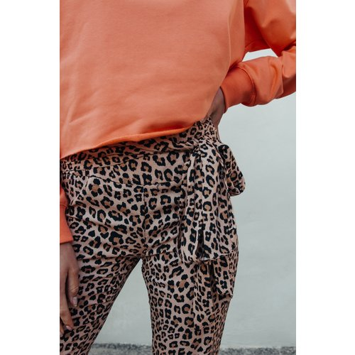 Colourful Rebel CHARLOTTE LEOPARD PALAZZO PANTS 6141