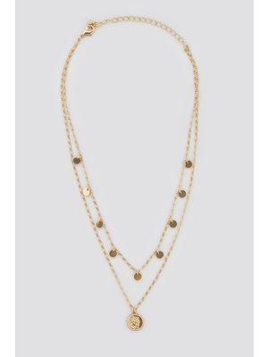 NA-KD COIN NECKLACE 1590-000039   gold