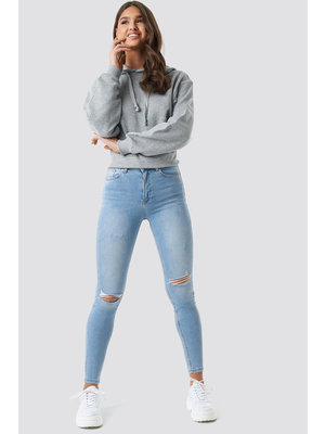 NA-KD SKINNY HIGH WAIST DESTROYED JEANS 1100-001676