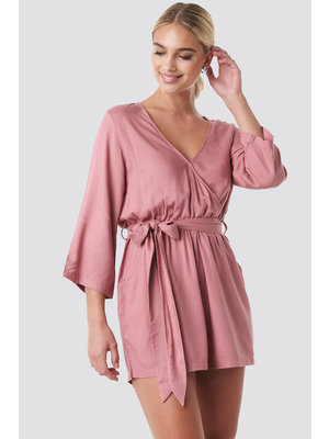 NA-KD WRAP PLAYSUIT 1018-000008 | pink