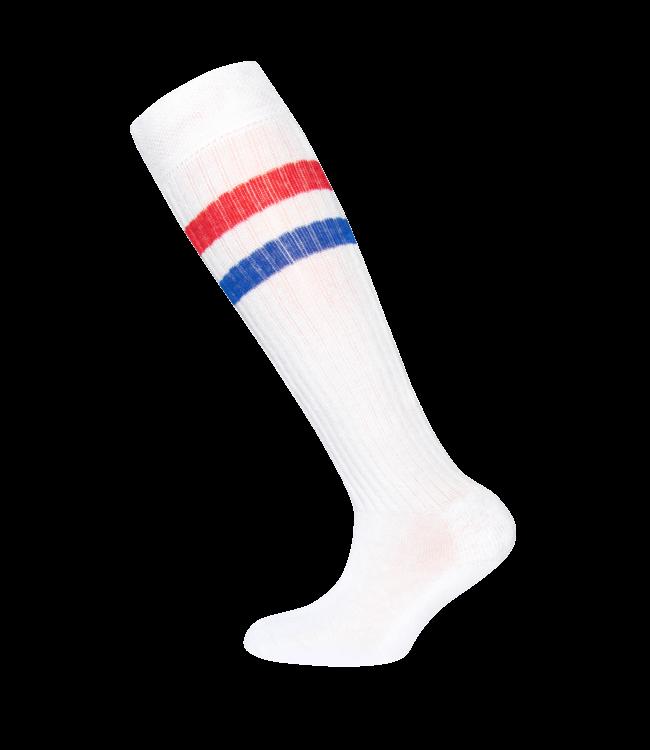 KNEE SOCKS 601052 | 1901 white/red/blue