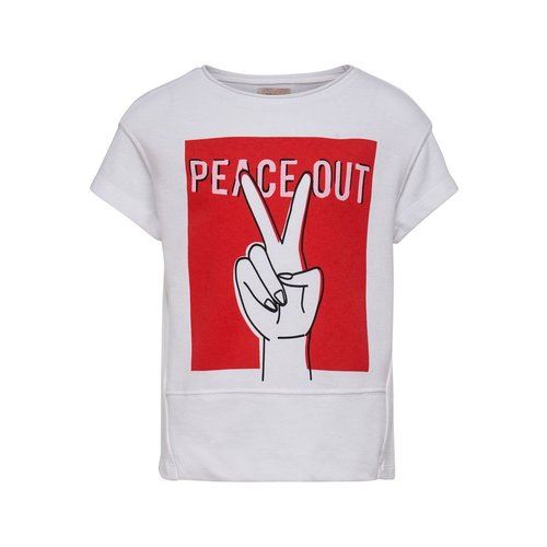 KIDS ONLY T-SHIRT NELLIE 15180361 | white/peace