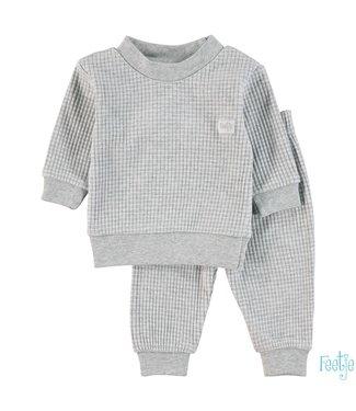 Feetje Wafel pyjama 305.533 | grijs melange