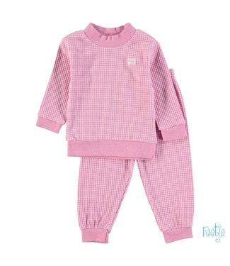 Feetje Wafel pyjama 305.533 | roze melange