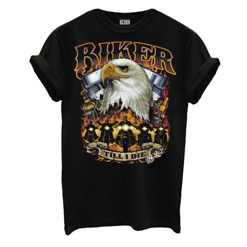 T-SHIRT BIKER | BLACK