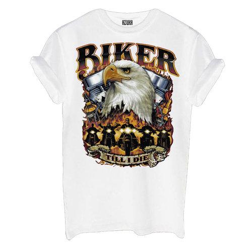 T-SHIRT BIKER   WHITE