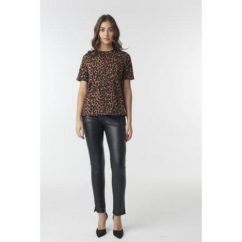 NA-KD 1018-002394 LOGO LEOPARD T-SHIRT   leopard