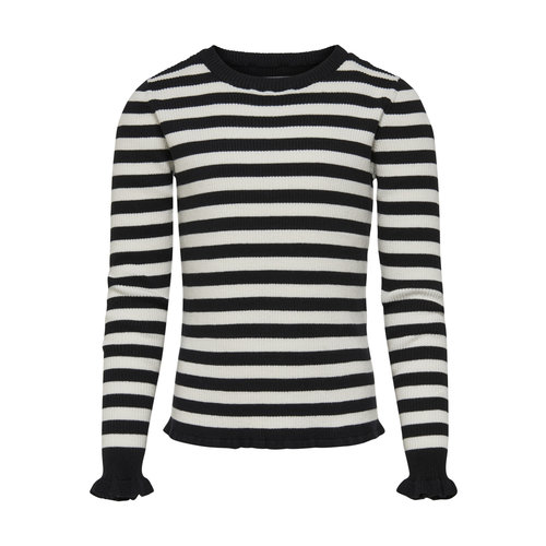 KIDS ONLY KNIT MALOU 15180893 | black/stripes