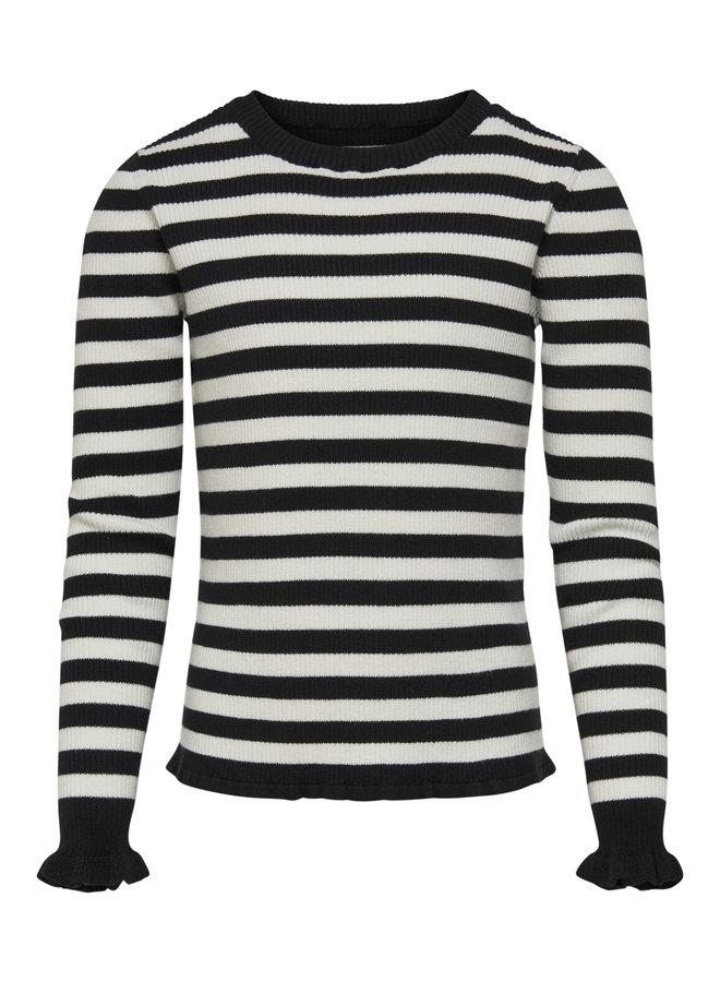 KNIT MALOU 15180893 | black/stripes