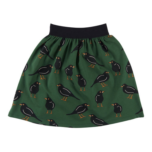 CarlijnQ Black bird - long skirt