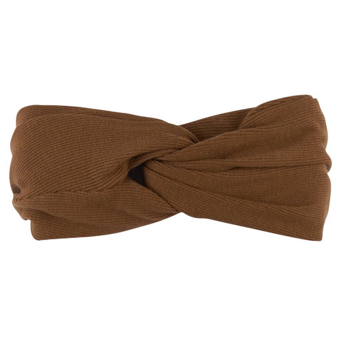 CarlijnQ Basics - twisted headband (brown)