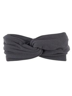CarlijnQ Basics - twisted headband (grey)