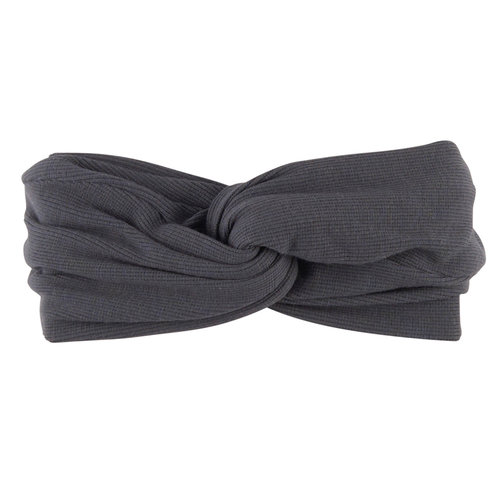 CarlijnQ Basics - twisted headband (grey)