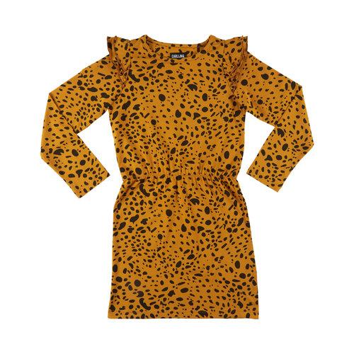 CarlijnQ Spotted animal - dress (ruffled sleeves)