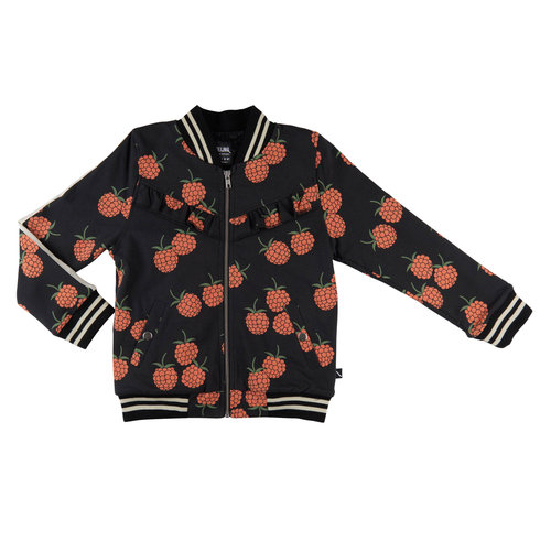 CarlijnQ Blackberry - bomberjacket (lined with black fur)