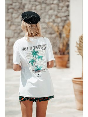 Colourful Rebel LOST IN PARADISE OVERSIZED TEE 6294 | white