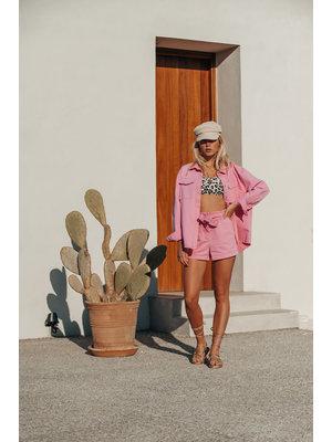 Colourful Rebel 6082 - Lois Washed Short Pink