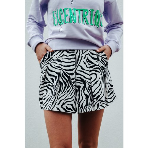 Colourful Rebel 6122 Zebra Print bermuda shorts