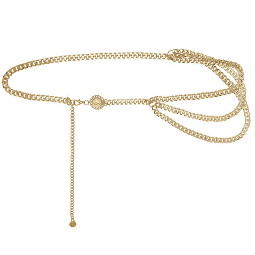 Chain Belt When in Rome | gold
