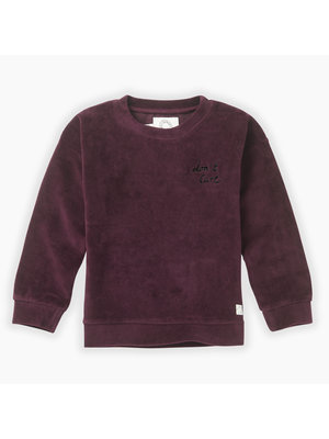 Sproet&Sprout Sweatshirt velvet Don't care (W19-866)