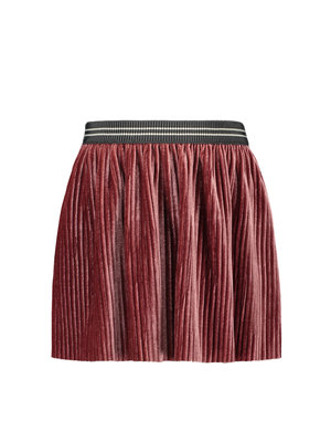 FLO RIB VELOURS SKIRT F908-5742 | old pink