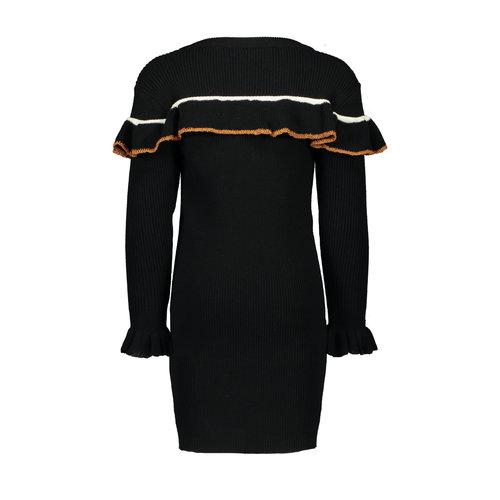 FLO KNITTED RUFFLE DRESS F908-5808