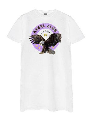 T-SHIRT DRESS REBEL CLUB | white