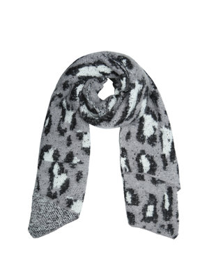 Scarf The Leopard Returns | grey